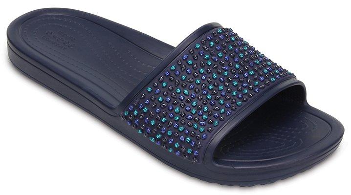 f616f2af8e3a1 Sandalias de piscina Sloane con adornos para mujer - Crocs