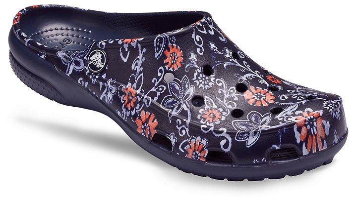 Freesail Graphic Clogs: Floral & Leopard Printed Clogs Crocs