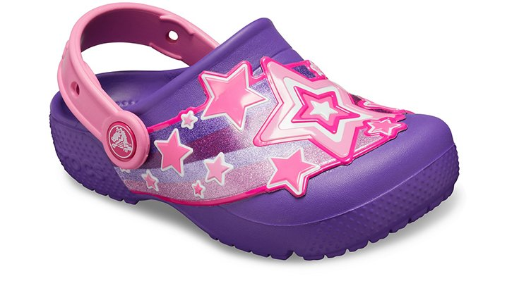 Crocs Fun Lab Shooting Stars Klompen Kinder Neon Purple 20
