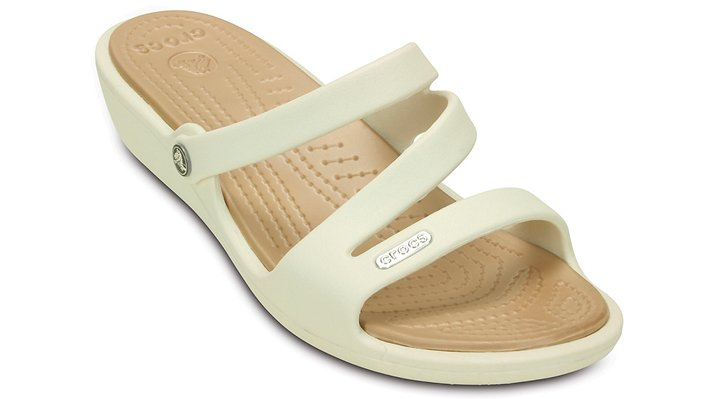 Crocs Patricia Wedges Damen Oyster-Gold 34