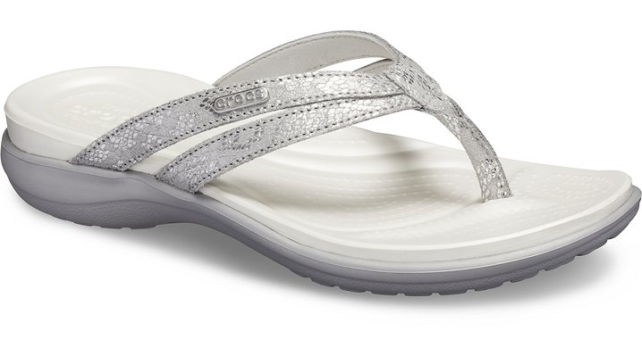 Crocs Capri Strappy TeenSlippers Damen Silver-Silver 36