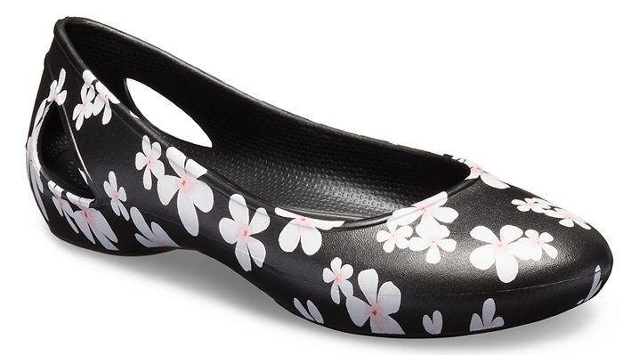 Crocs Laura Seasonal Graphic Ballerinas Damen Tropical Floral-Black 34