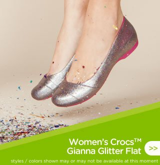 Women's Crocs Gianna Glitter Flat