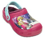 Kids' Creative Crocs Frozen Fuzz-Lined Clog