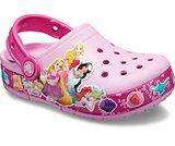 163168658bed8 Kids  Crocs Fun Lab Multi-Princess Band Lights Clog