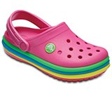 Kids' Crocband™ Rainbow Band Clogs