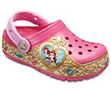 Zuecos Crocband™ Disney™ Princess Lights para niños